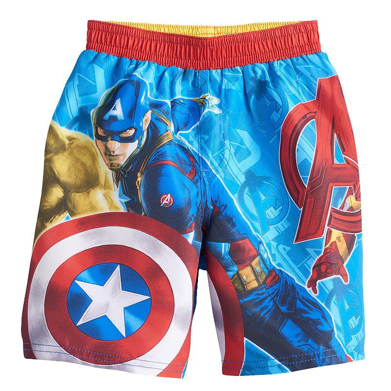 Toddler Boy Marvel Avengers Character Graphic Swim Trunks