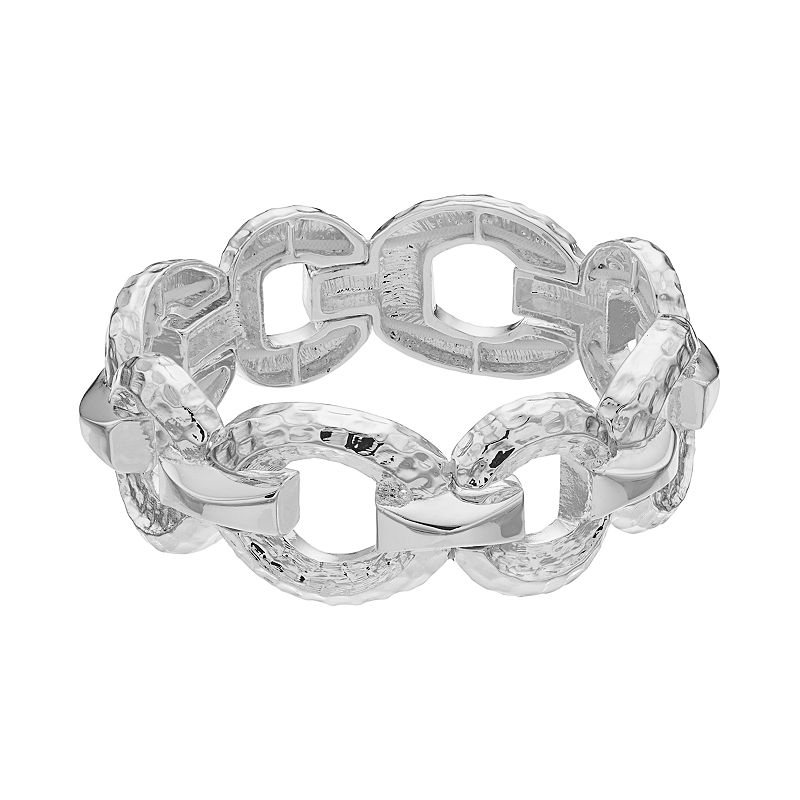 Dana Buchman Hammered Circle Link Stretch Bracelet
