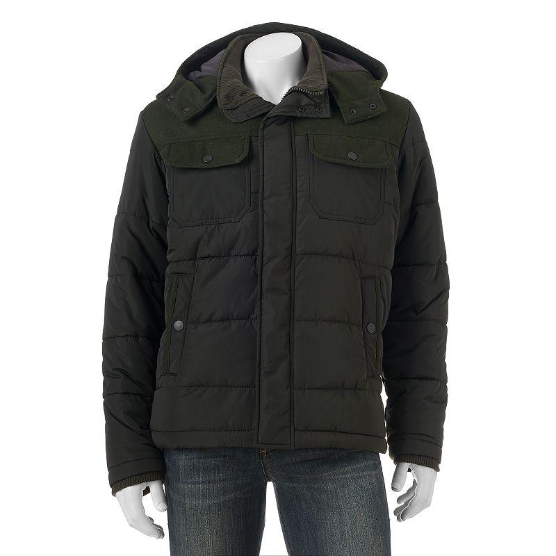 Men's Hemisphere Wool-Blend Mixed Media Jacket