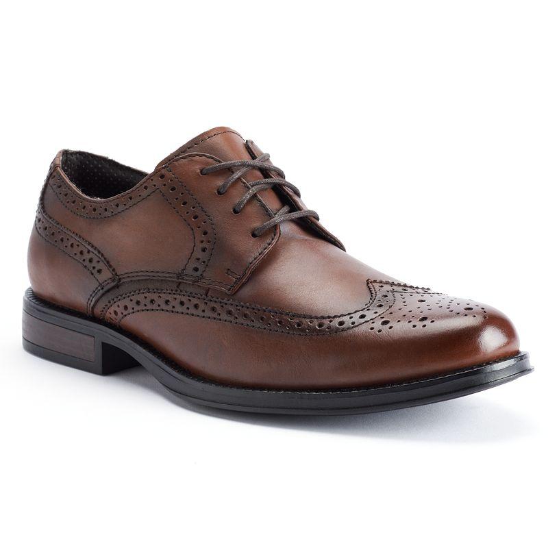 Chaps Astor Mens Wingtip Oxford Shoes Size Medium 10 Med Brown Shop Your Way Online