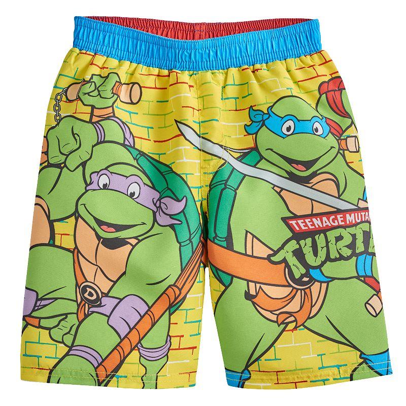 Toddler Boy Teenage Mutant Ninja Turtles Brick Swim Trunks
