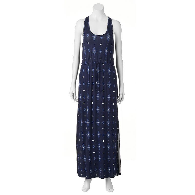 Juniors' Mudd® Drawstring-Waist Maxi Dress