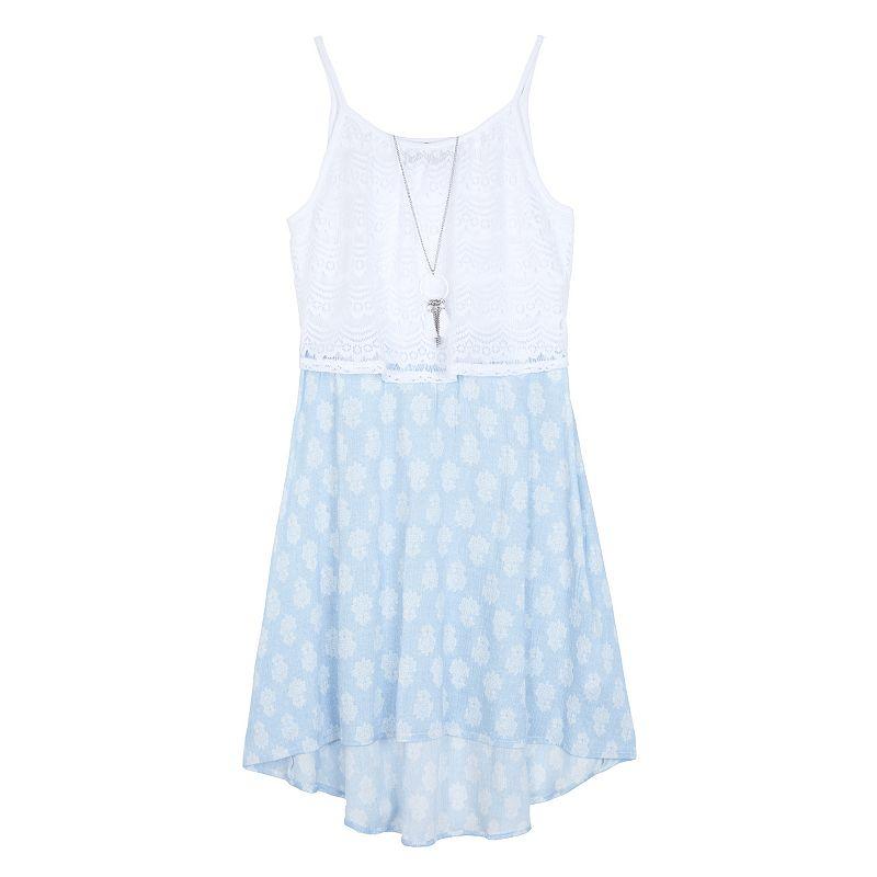 Girls 7-16 IZ Amy Byer Lace Bodice Dress & Necklace Set