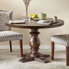 Madison Park Turned Leg Henry Round Dining Table by