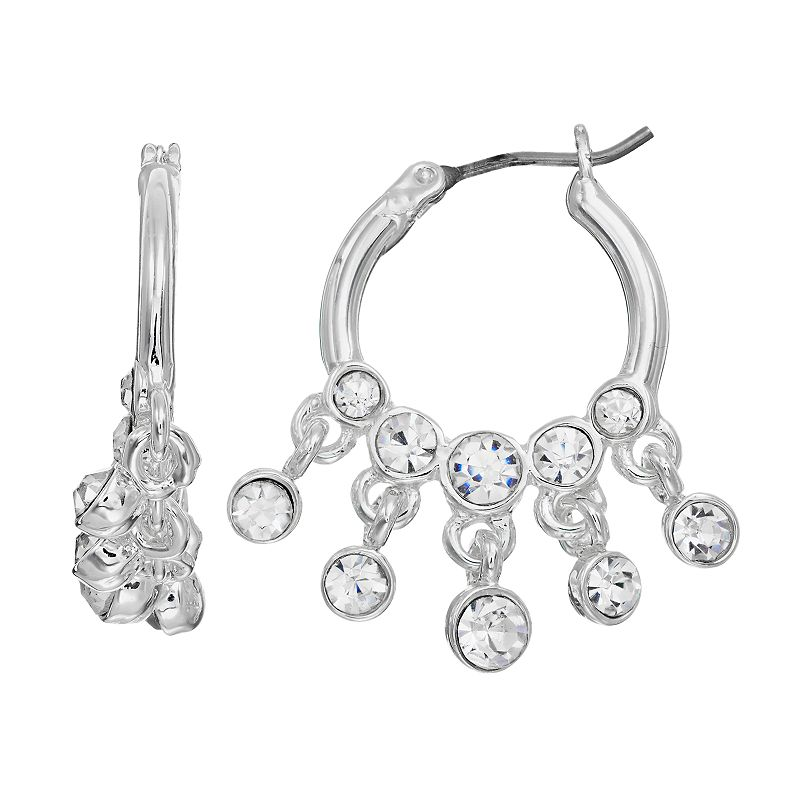 Dana Buchman Beaded Hoop Earrings