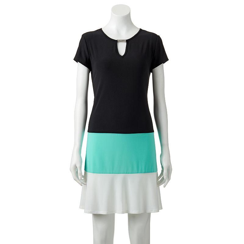 Women's Tiana B Colorblock Shift Dress