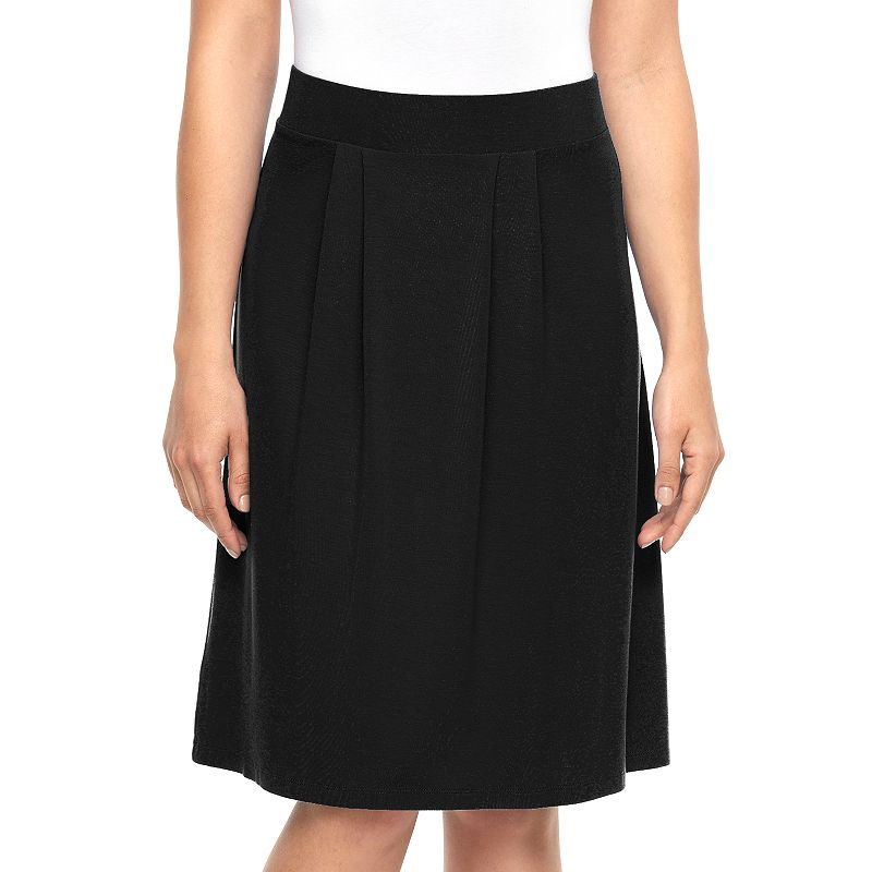 Women's Dana Buchman Solid Pleated Skirt