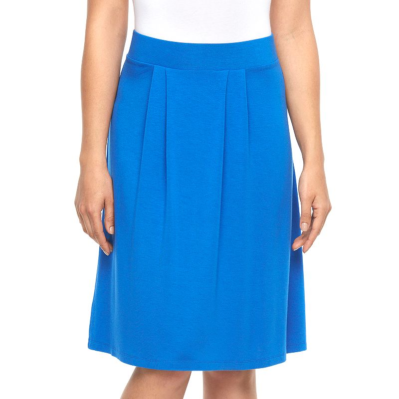 Women's Dana Buchman Solid Pleated Skirt