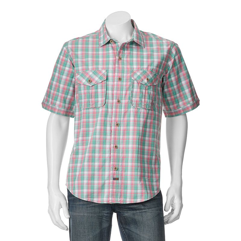 Men's American Outdoors Mountain Madras-Plaid Button-Down Shirt