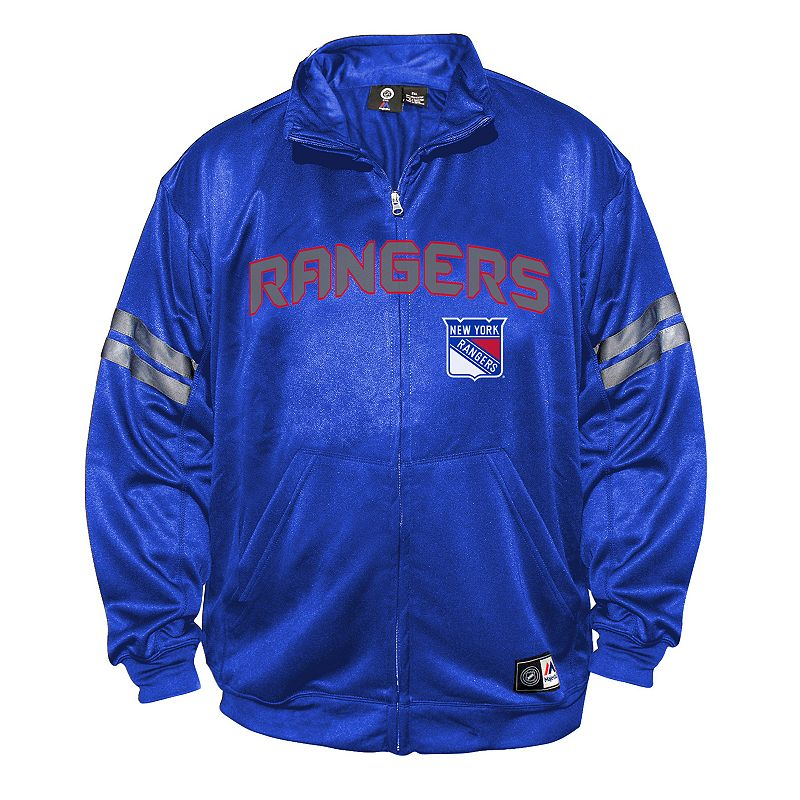 Big & Tall Majestic New York Rangers Tricot Track Jacket