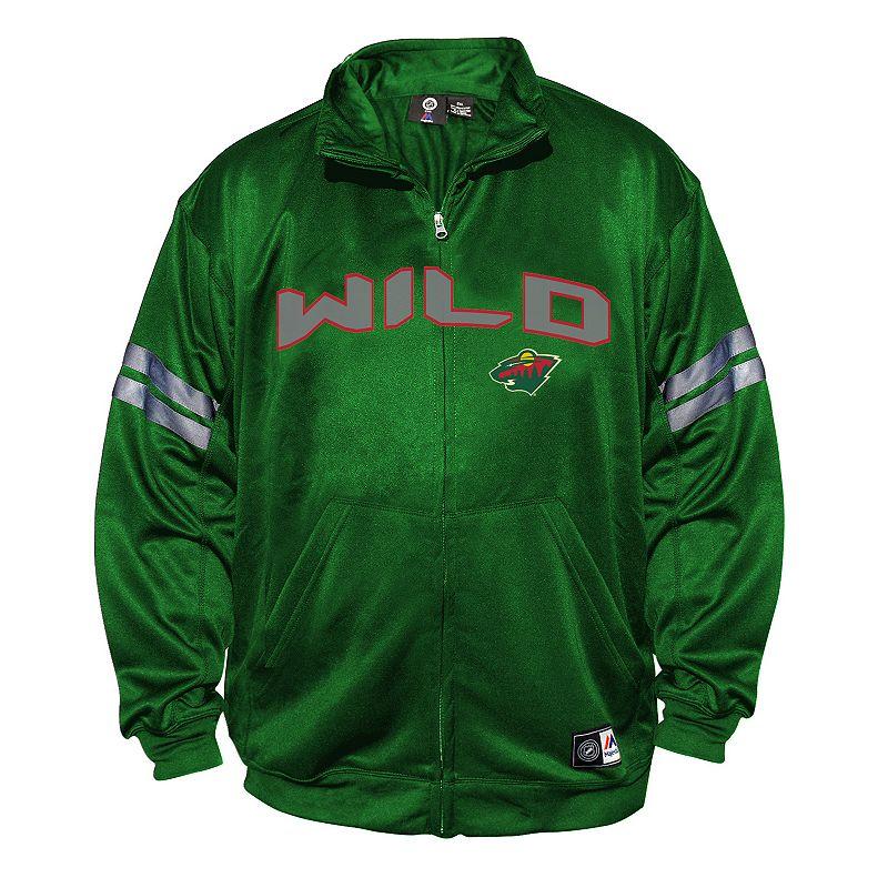 Big & Tall Majestic Minnesota Wild Tricot Track Jacket