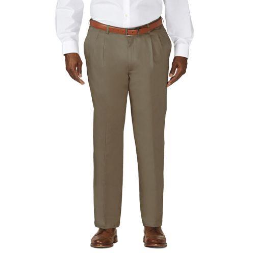Haggar® Work to Weekend® Pleated No-Iron Khakis - Big & Tall