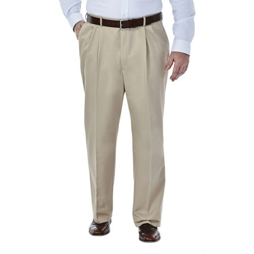 Haggar® Work to Weekend® Pleated No-Iron Khakis - Big & Tall