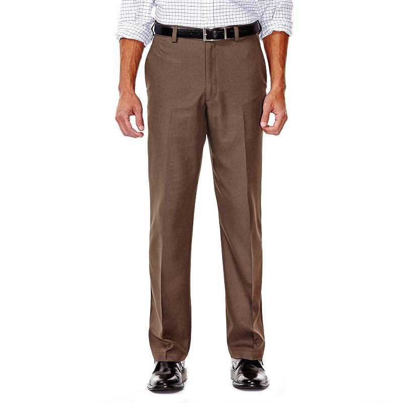 Big & Tall Haggar® Cool 18® Classic-Fit Flat-Front No-Iron Expandable Waist Pants