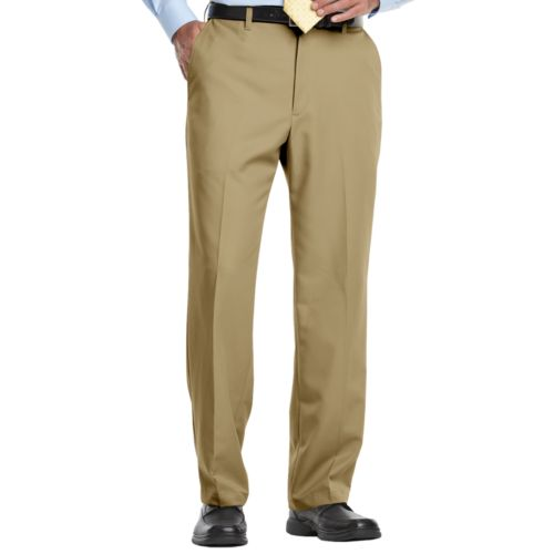 Haggar® Cool 18® Flat-Front Microfiber Expandable Waist Pants - Big & Tall