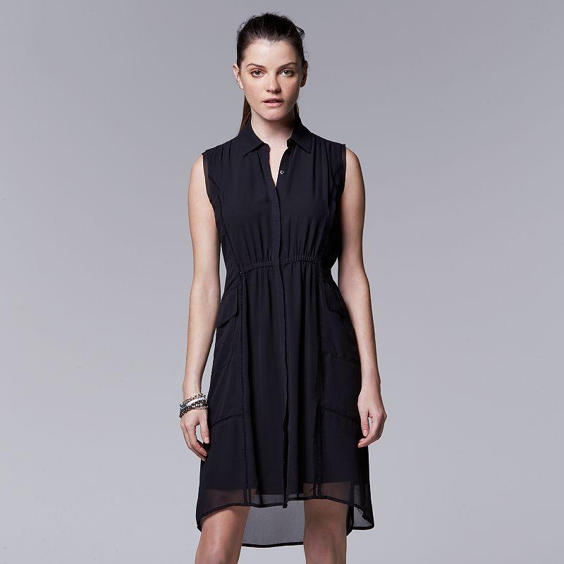 Women's Simply Vera Vera Wang Chiffon High-Low Shirtdress