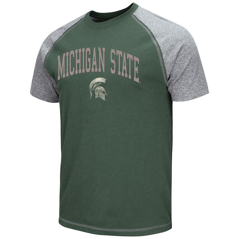 Men's Campus Heritage Michigan State Spartans Raglan Tee
