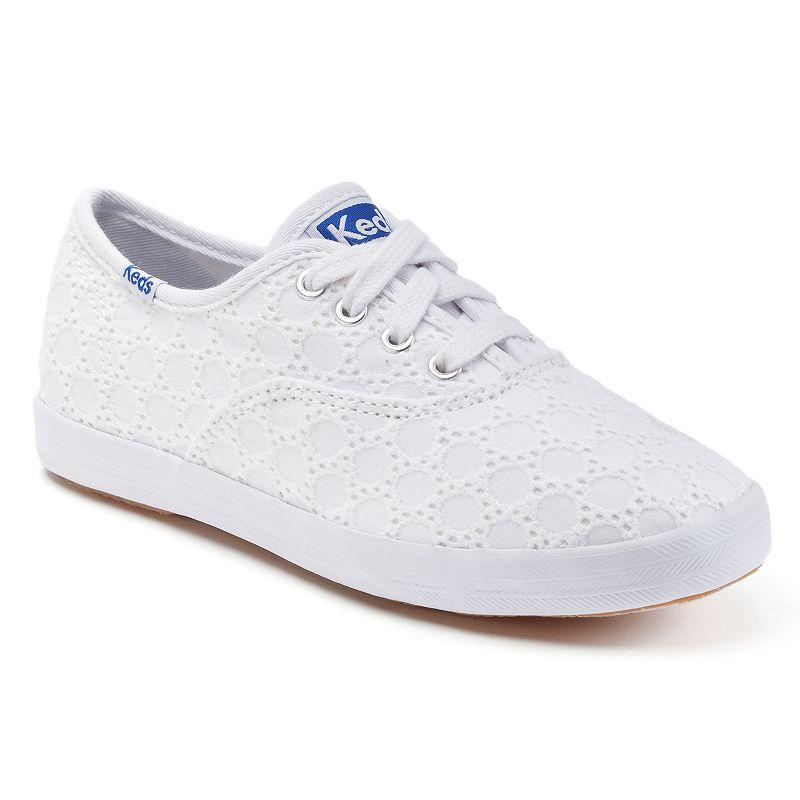 Girls White Canvas Sneaker