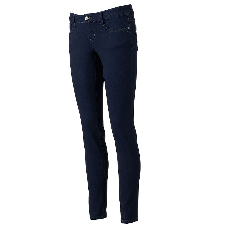 Juniors' Rampage Studded Skinny Jeans