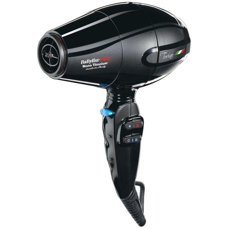 BaByliss Nano Titanium Torino Mid-Size Hair Dryer, Black