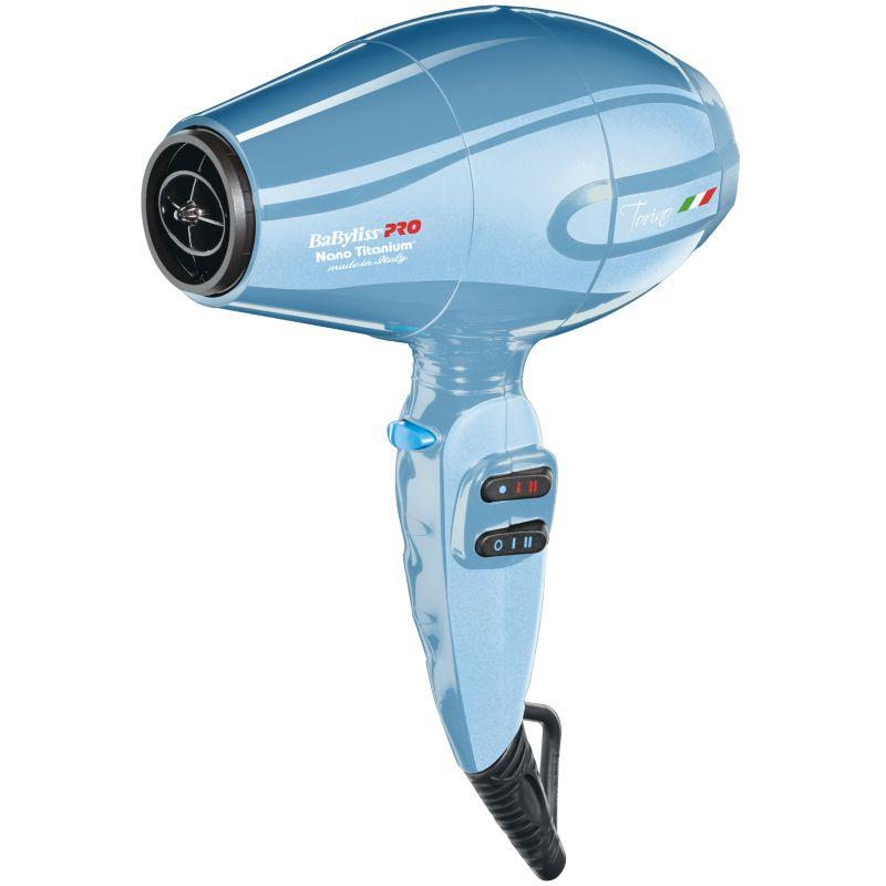 BaByliss Nano Titanium Torino Mid-Size Hair Dryer, Blue