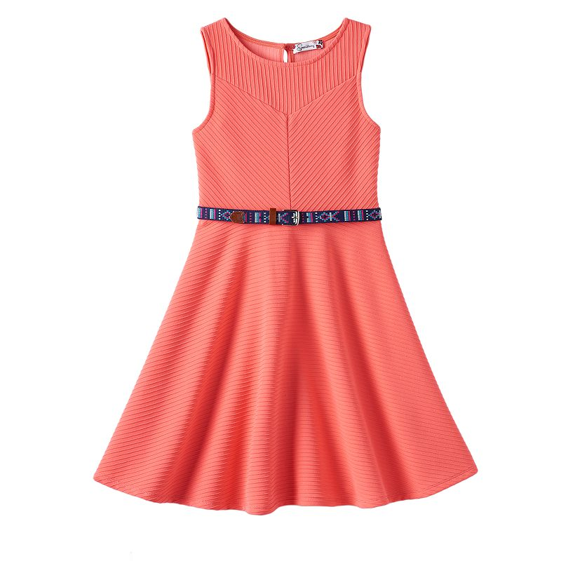 Girls 7-16 Speechless Textured Knit Skater Dress