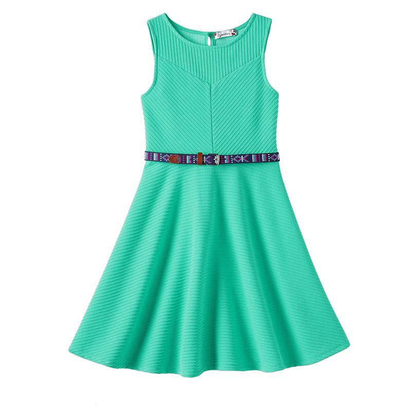 Girls 7-16 Speechless Textured Knit Skater Dress
