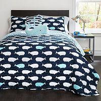 Lush Decor Whale Quilt Set