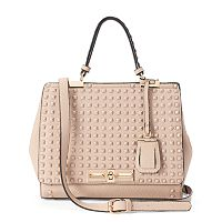 La Diva Studded Convertible Satchel
