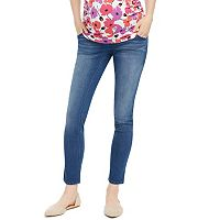 Petite Maternity Oh Baby by Motherhood™ Secret Fit Belly™ Faded Skinny Jeans