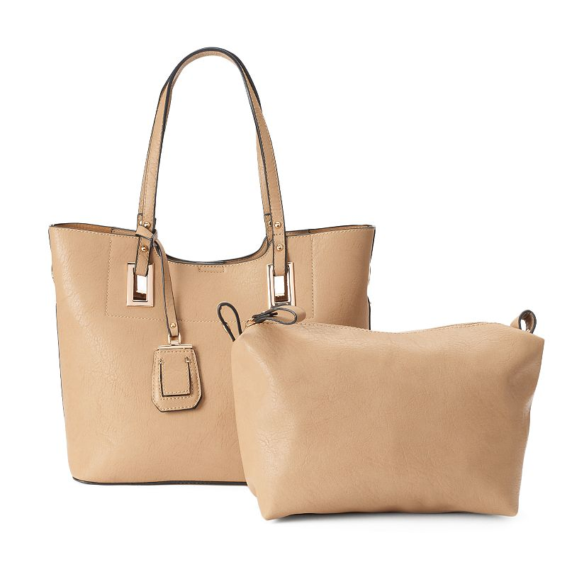 La Diva Center Stitch Tote & Pouch