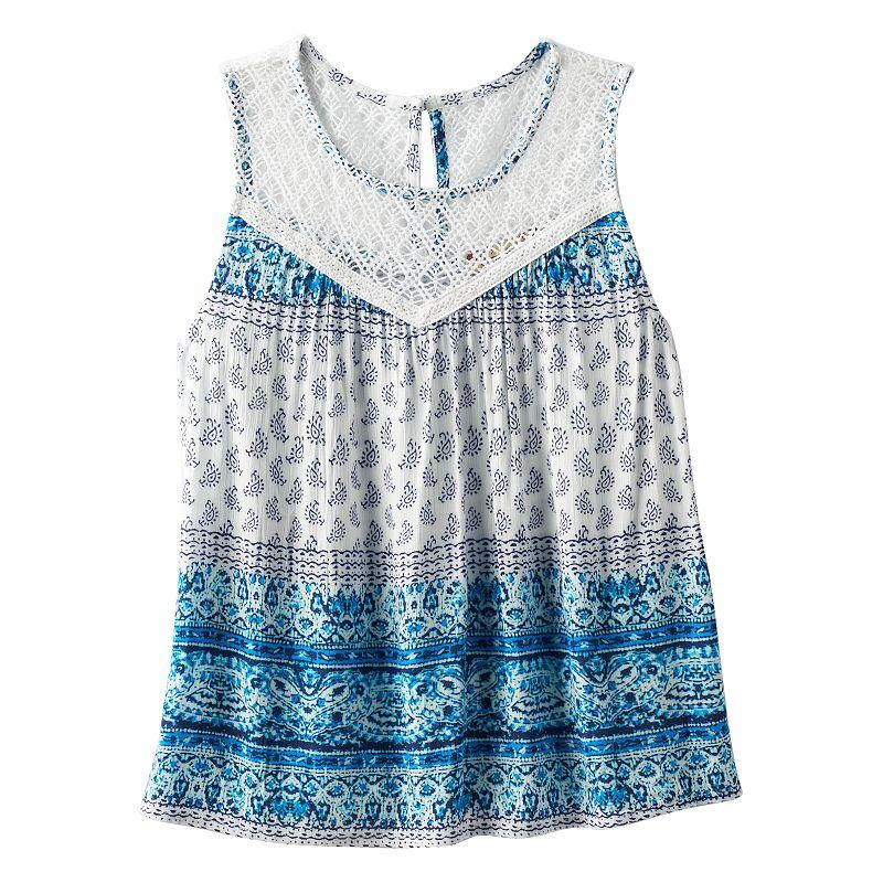 Girls 7-16 Speechless Crochet Lined Tank Top