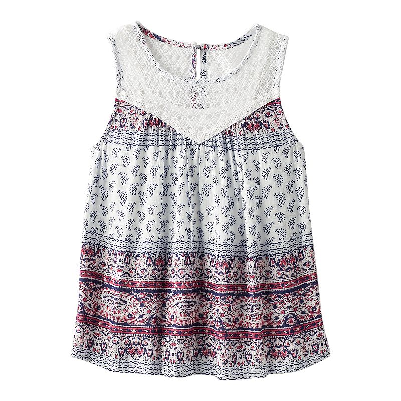 Girls 7-16 Speechless Crochet Lined Tank Top