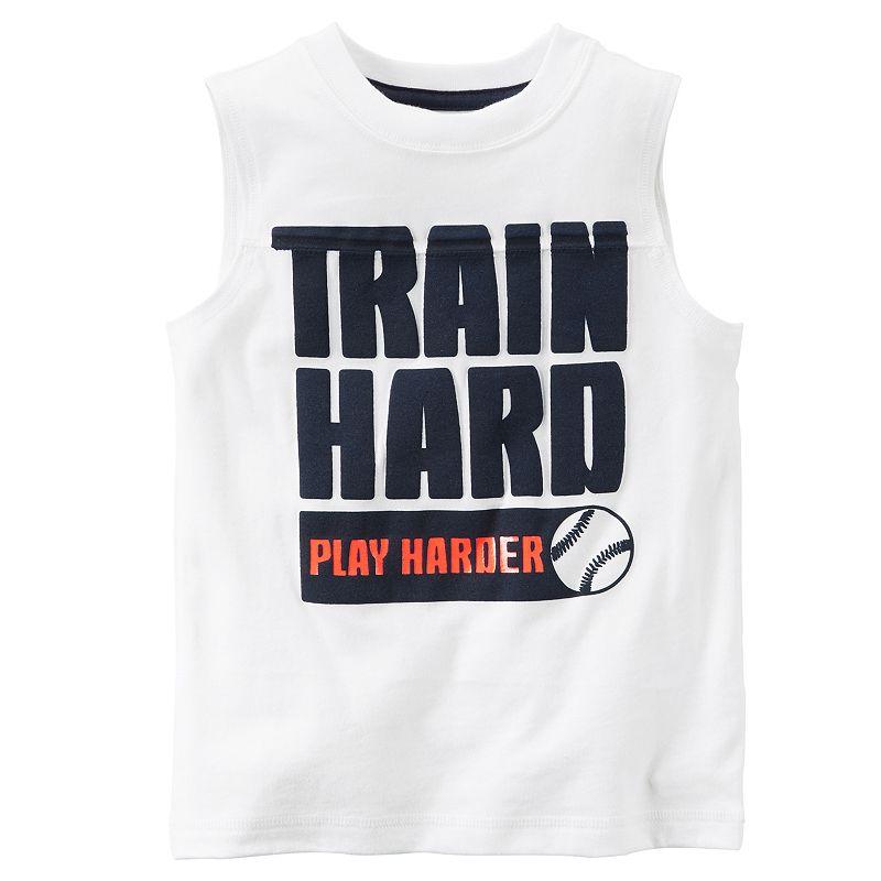 Boys 4-8 Carter's Sport Slogan Muscle Tank