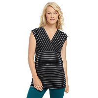 Maternity Oh Baby by Motherhood™ Ruched Surplice Tee