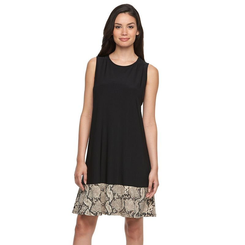 Women's MSK Print-Hem Shift Dress