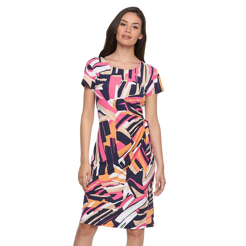 Women's MSK Abstract Print Shift Dress