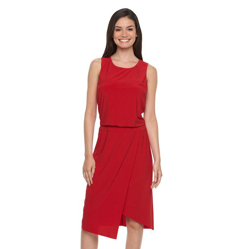 Women's MSK Asymmetrical Midi Dress