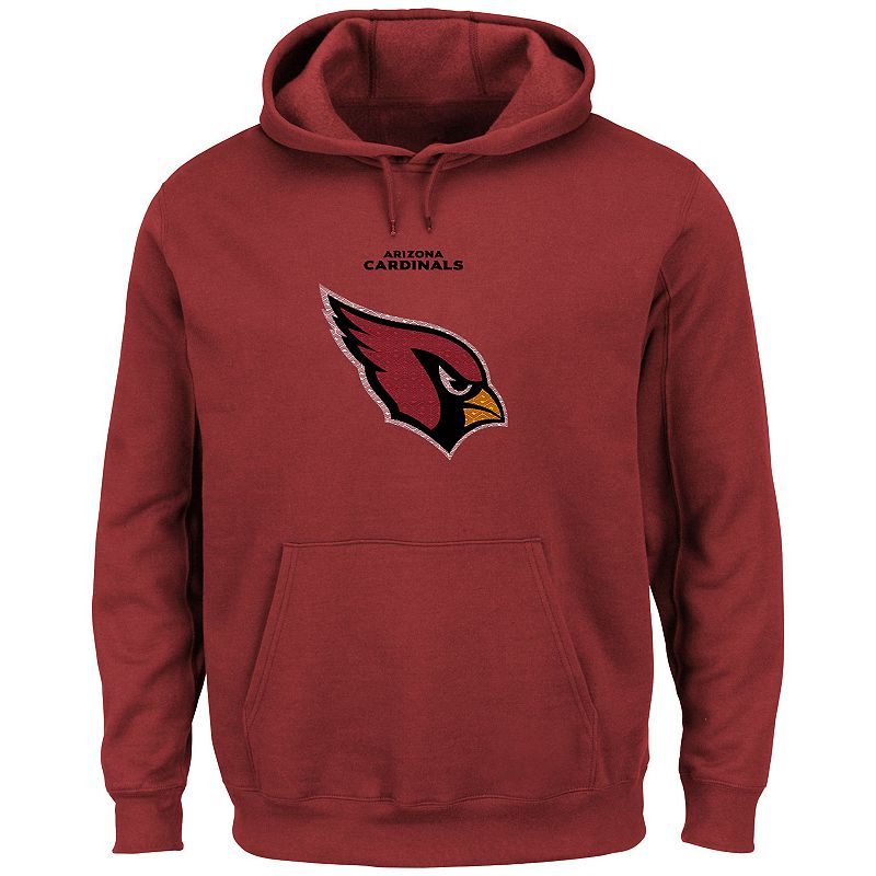 Men's Majestic Arizona Cardinals Critical Victory Pullover Hoodie