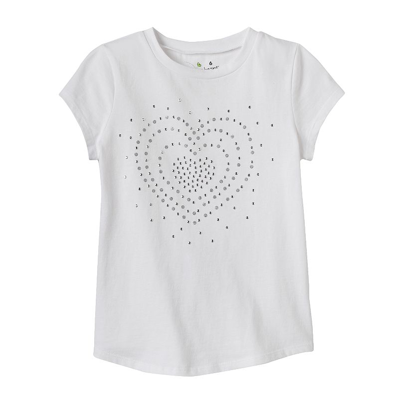 Girls 4-7 Jumping Beans® Solid Patriotic Rhinestone Tee