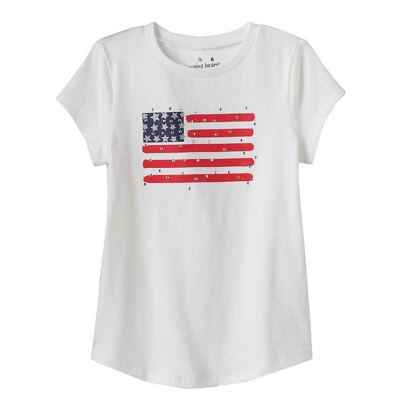 Girls 4-7 Jumping Beans® Patriotic Rhinestone Tee