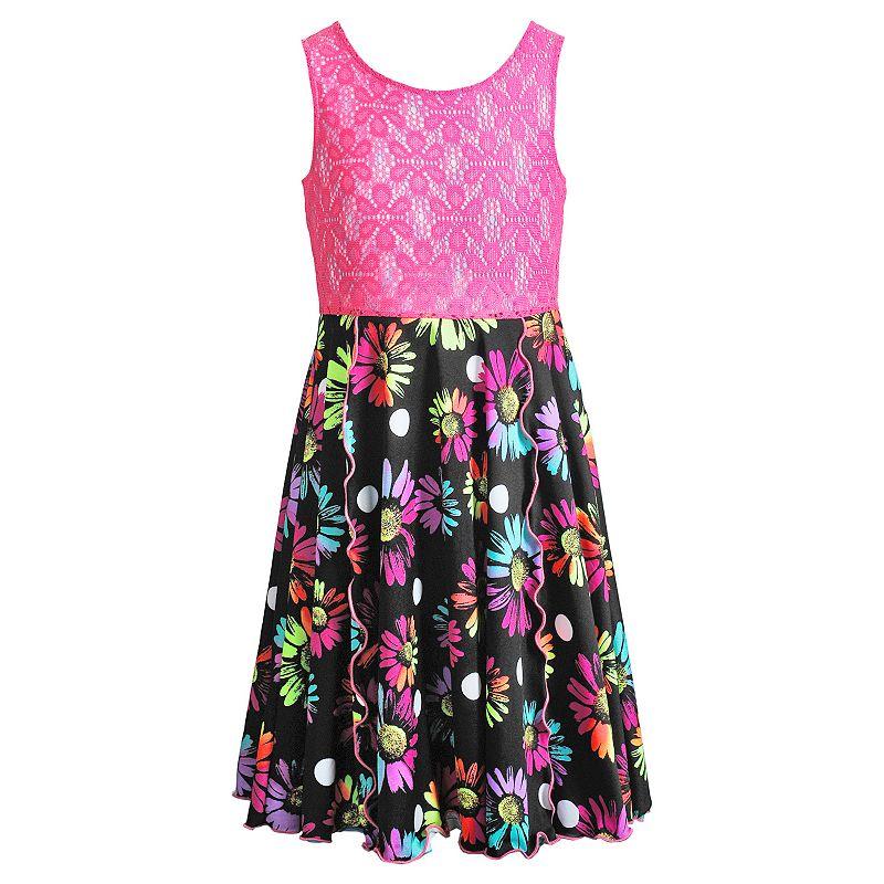 Girls 7-16 Emily West Daisy Flip & Twirl Reversible Dress