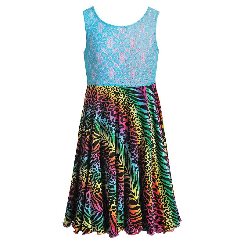 Girls 7-16 Emily West Animal Print Flip & Twirl Reversible Dress