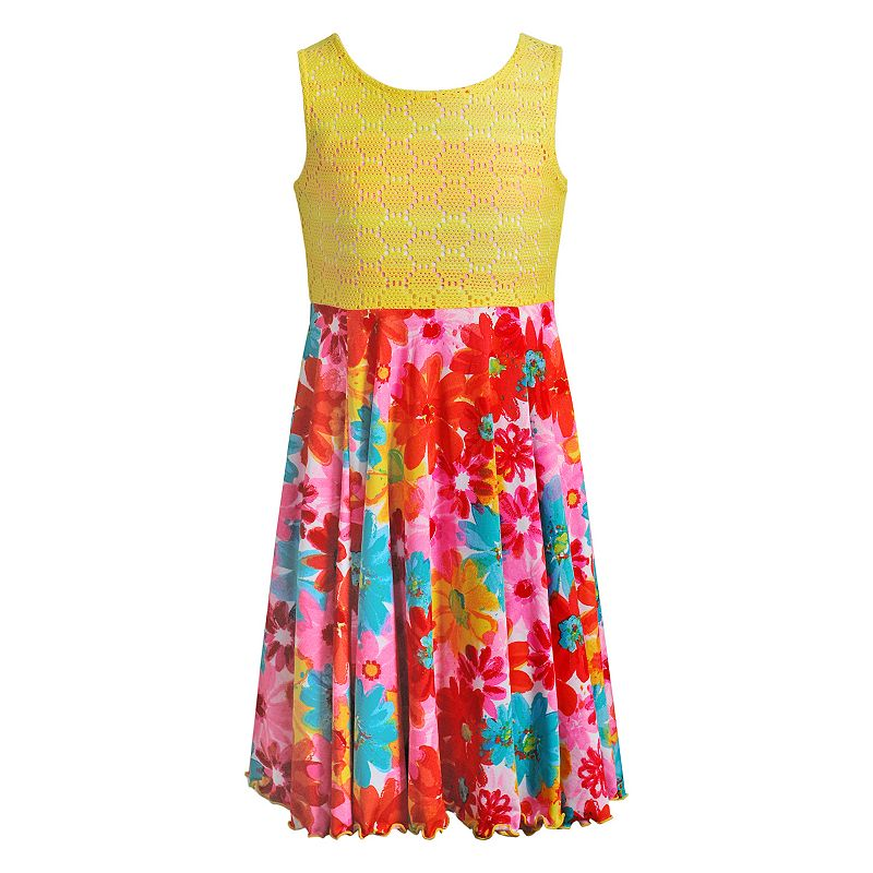 Girls 7-16 Emily West Floral Flip & Twirl Reversible Dress