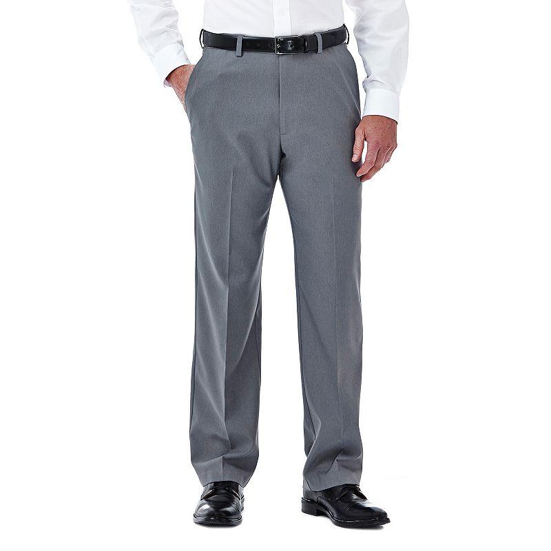 Men's Haggar Cool 18 Stretch Flat-Front Pants
