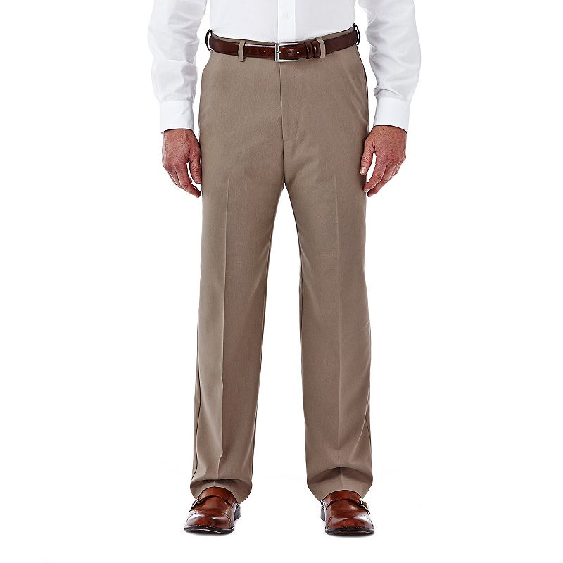 Men's Haggar Cool 18 Stretch Flat-Front Pants