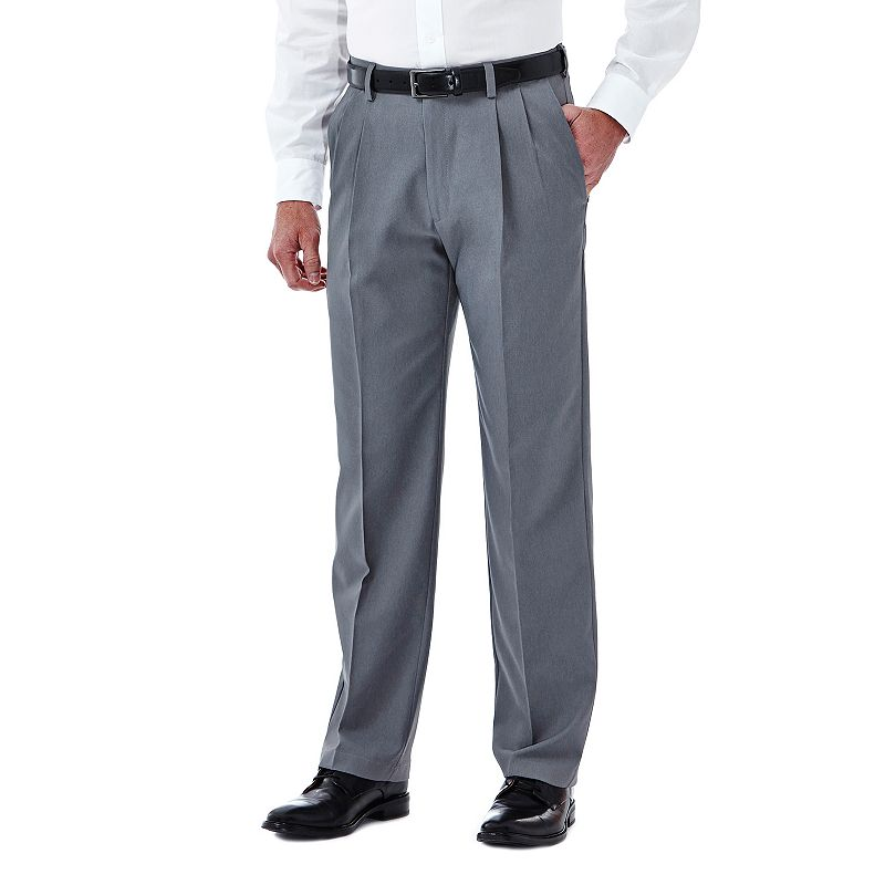 Men's Haggar Cool 18 Stretch Pleated-Front Pants