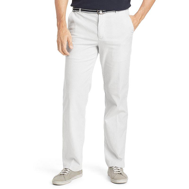 Men's IZOD Sandy Bay Seersucker Flat-Front Pants