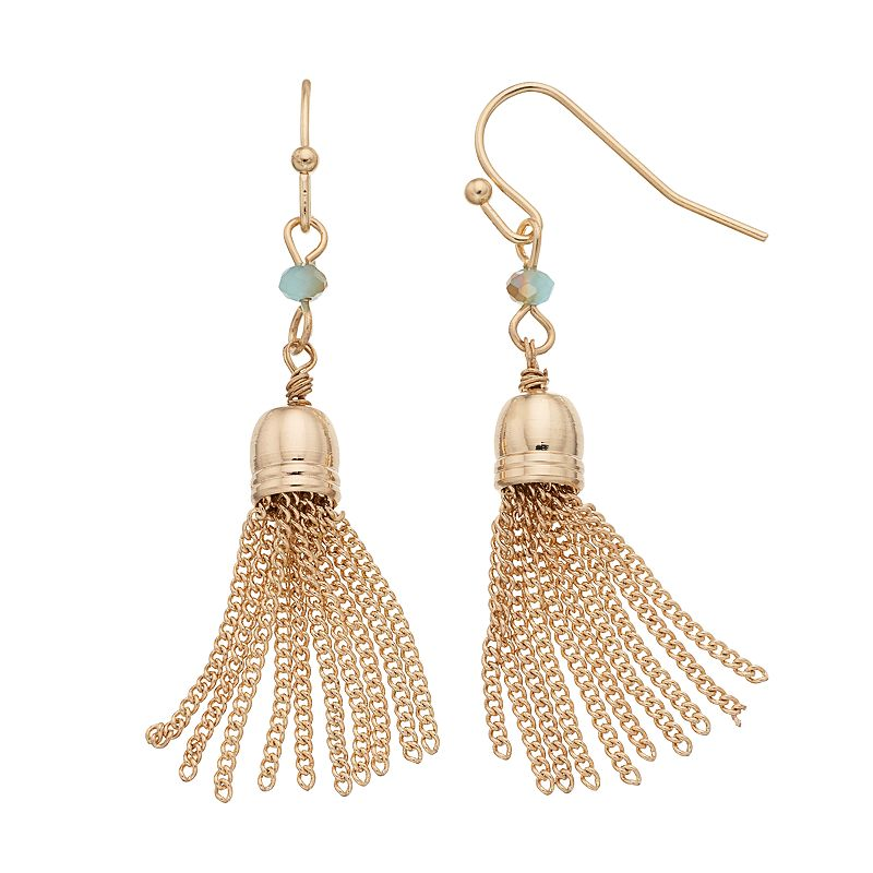 LC Lauren Conrad Tassel Drop Earrings