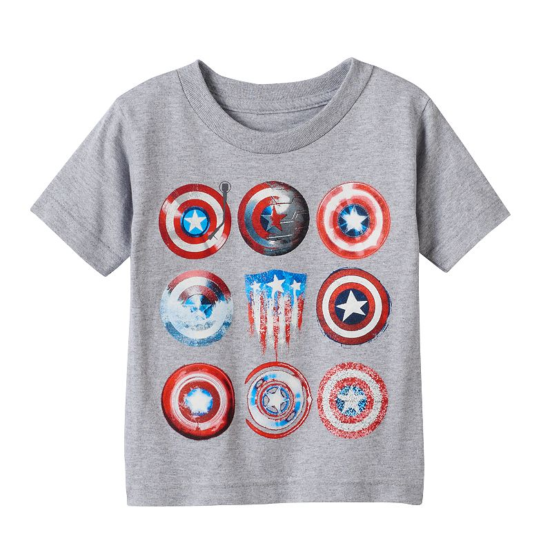 Toddler Boy Marvel Captain America 75th Shields Tee